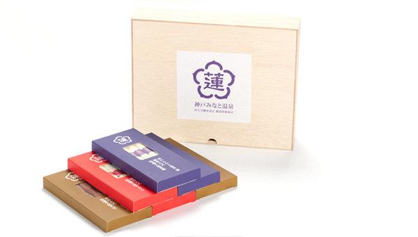 蓮オリジナル 播州古式特選 <br>手延麺3種セット(桐箱入 6個) 5,700円