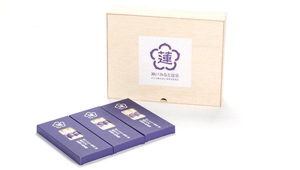 蓮オリジナル 播州古式特選 <br>手延素麵(桐箱入 3個) 3,000円
