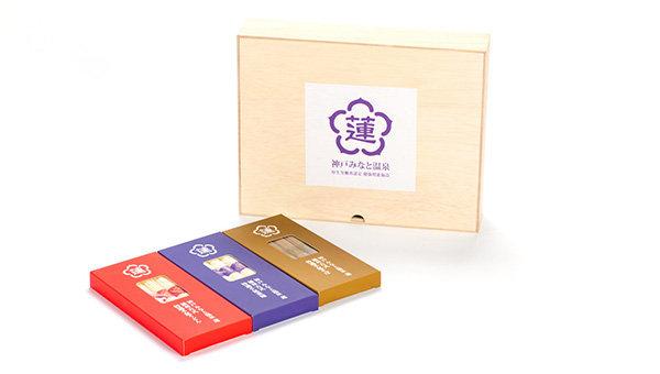 蓮オリジナル 播州古式特選 <br>手延麺3種セット(桐箱入 3個) 3,000円